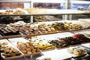 chocolates pastry display
