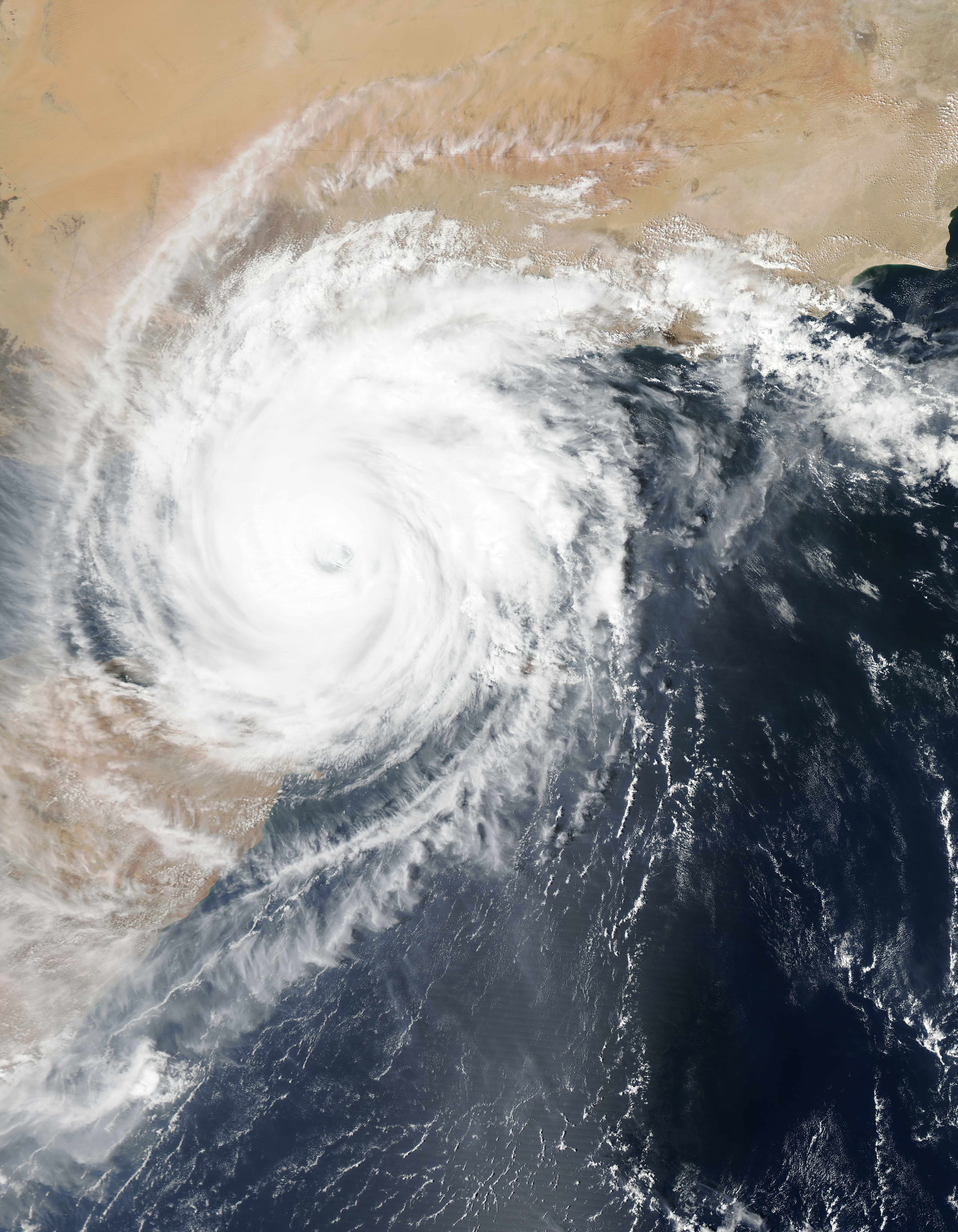 A hurricane or storm over Yemen