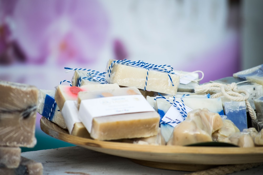 selective focus photography of soap party favors