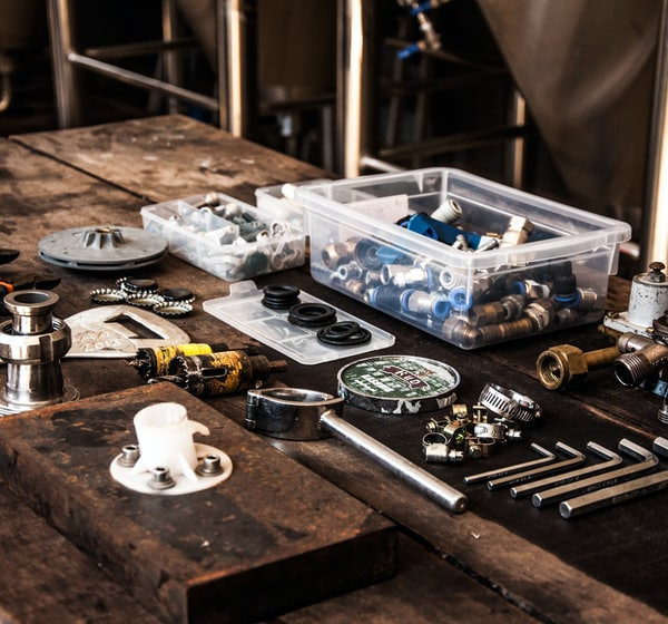 flat lay photography of assorted-color mechanical tool set