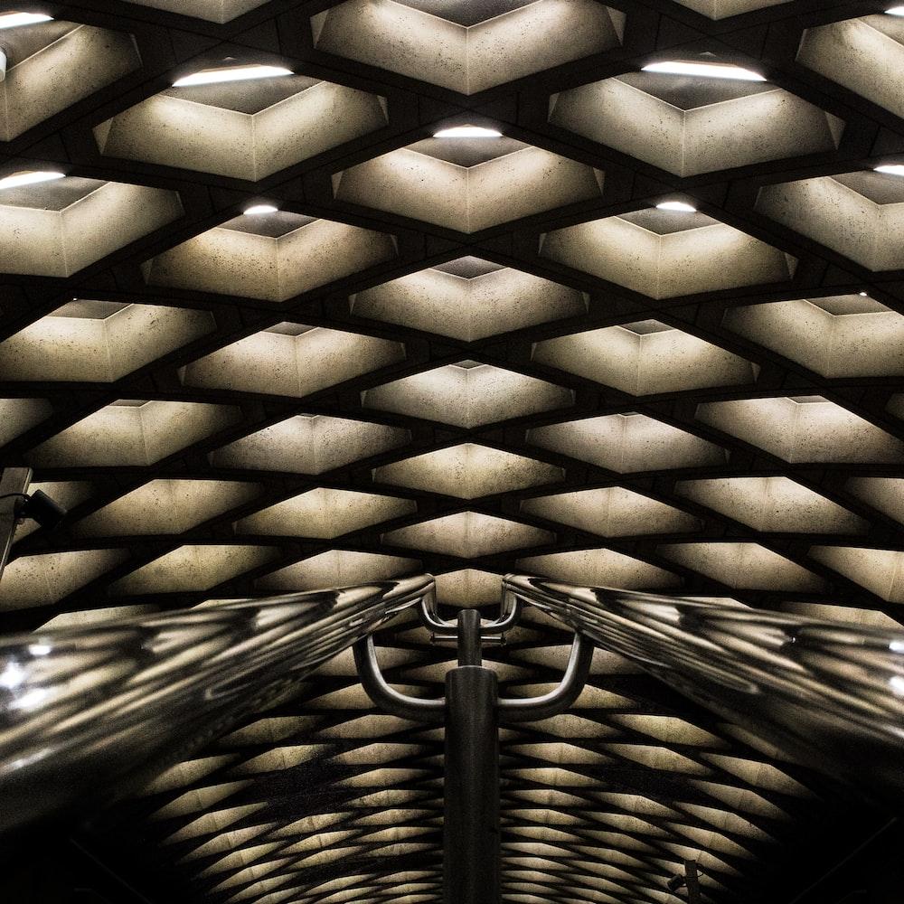 gray concrete ceiling