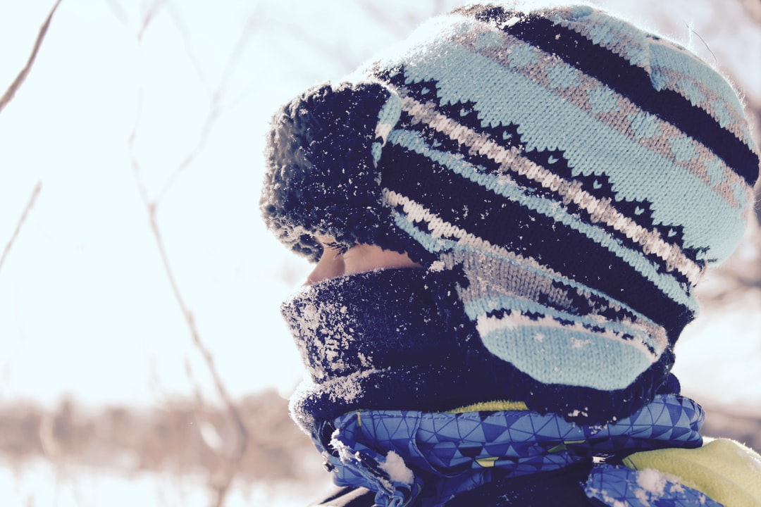 Person in hats and scarf at Parry Sound