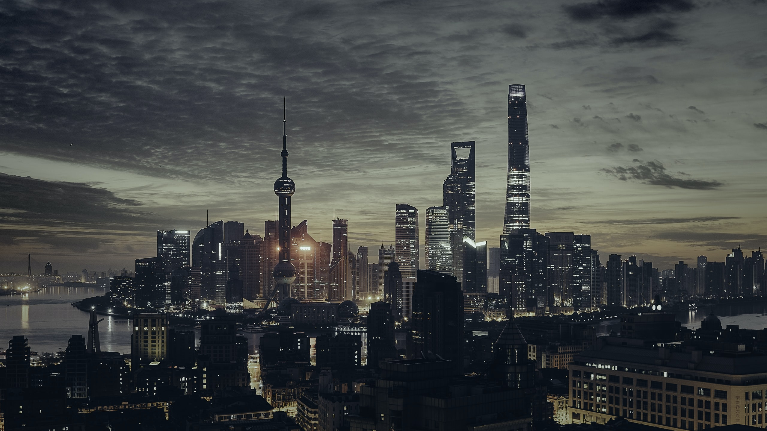 Shanghai tower in night time