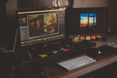 Video editing computer setup