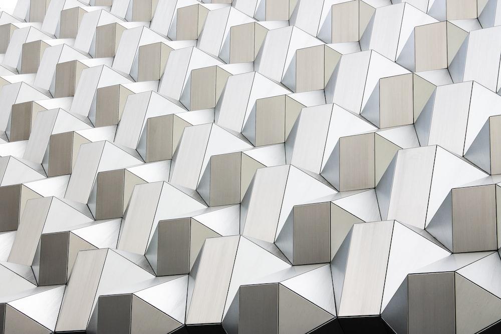 white abstract geometric artwork