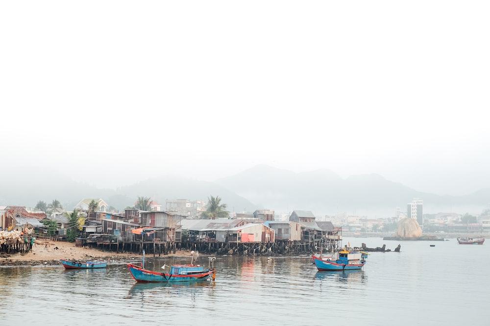 boat by island