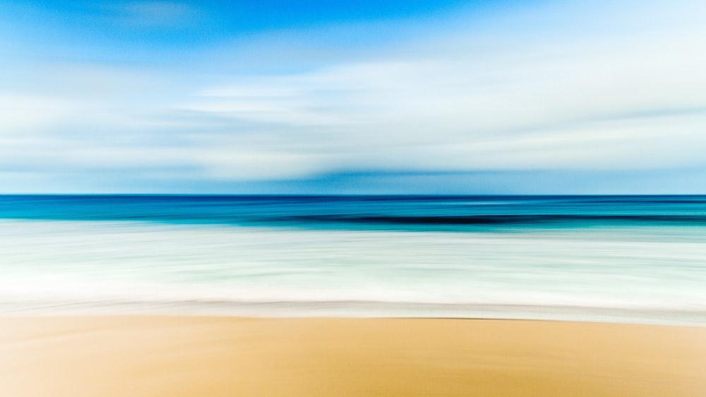 skyline photography of seashore