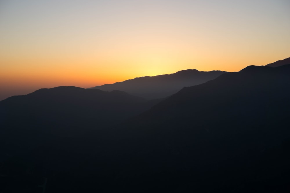 silhouette of mountains