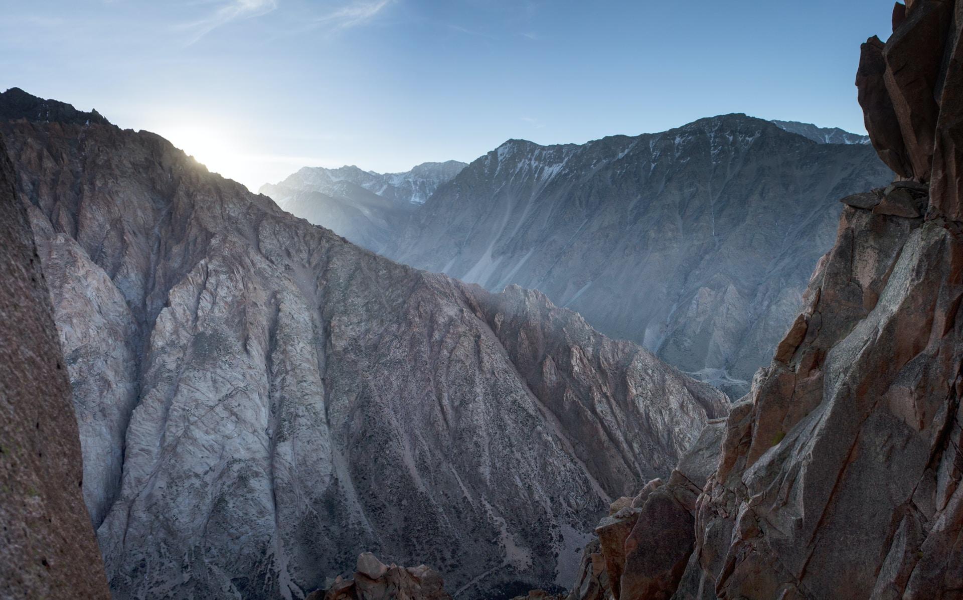 aerial photography gray mountain