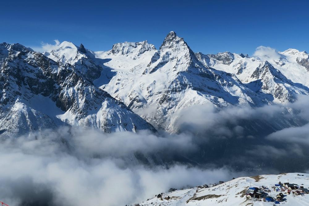 mountain range landscape photograph