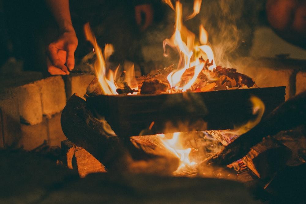 time lapse photography of burning firewoods
