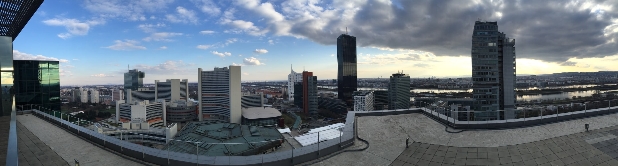 Background picture showing skyscrapers in Vienna