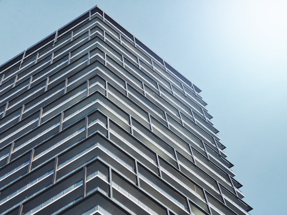 low-angle photo of high rise building