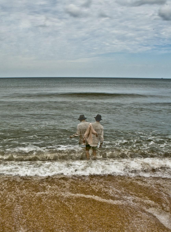 man in ocean