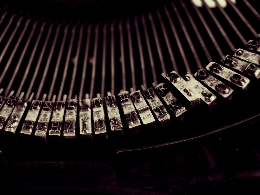 Typebars in close-up