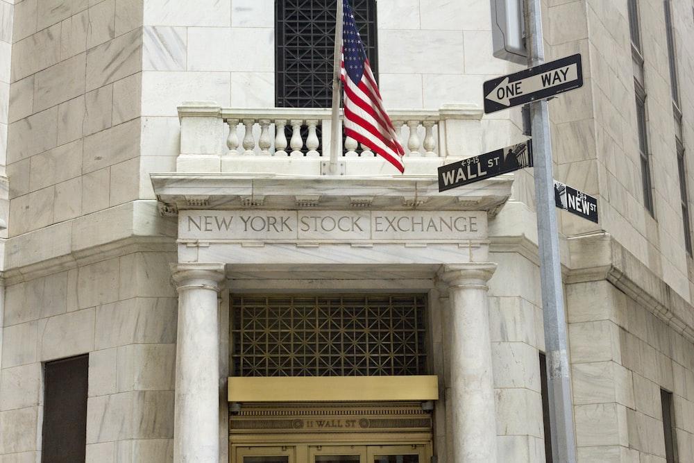 The New York Stock Exchange building.