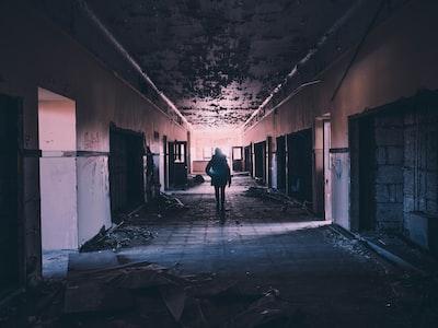 Detroit building at night