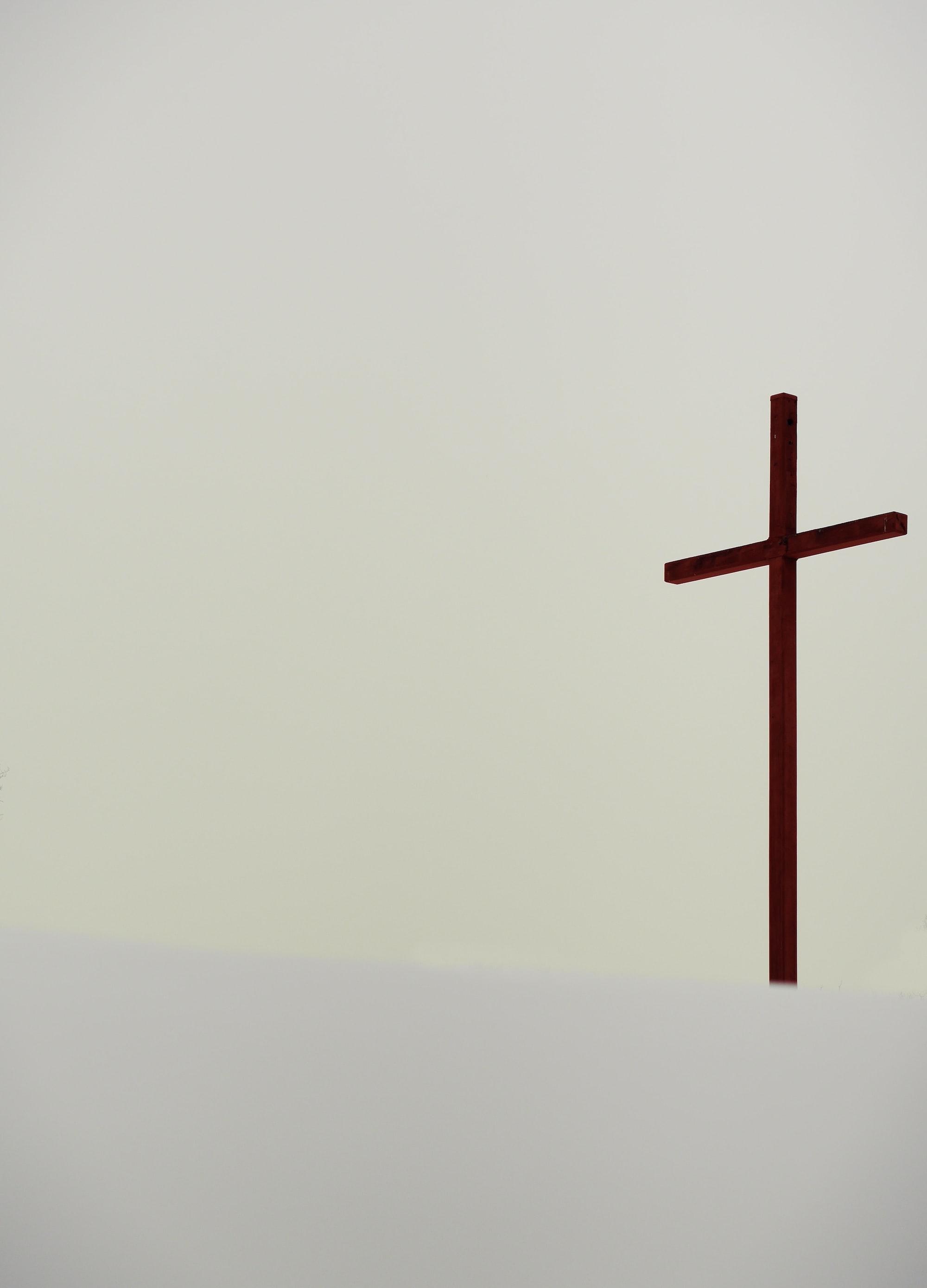 Large cross statue