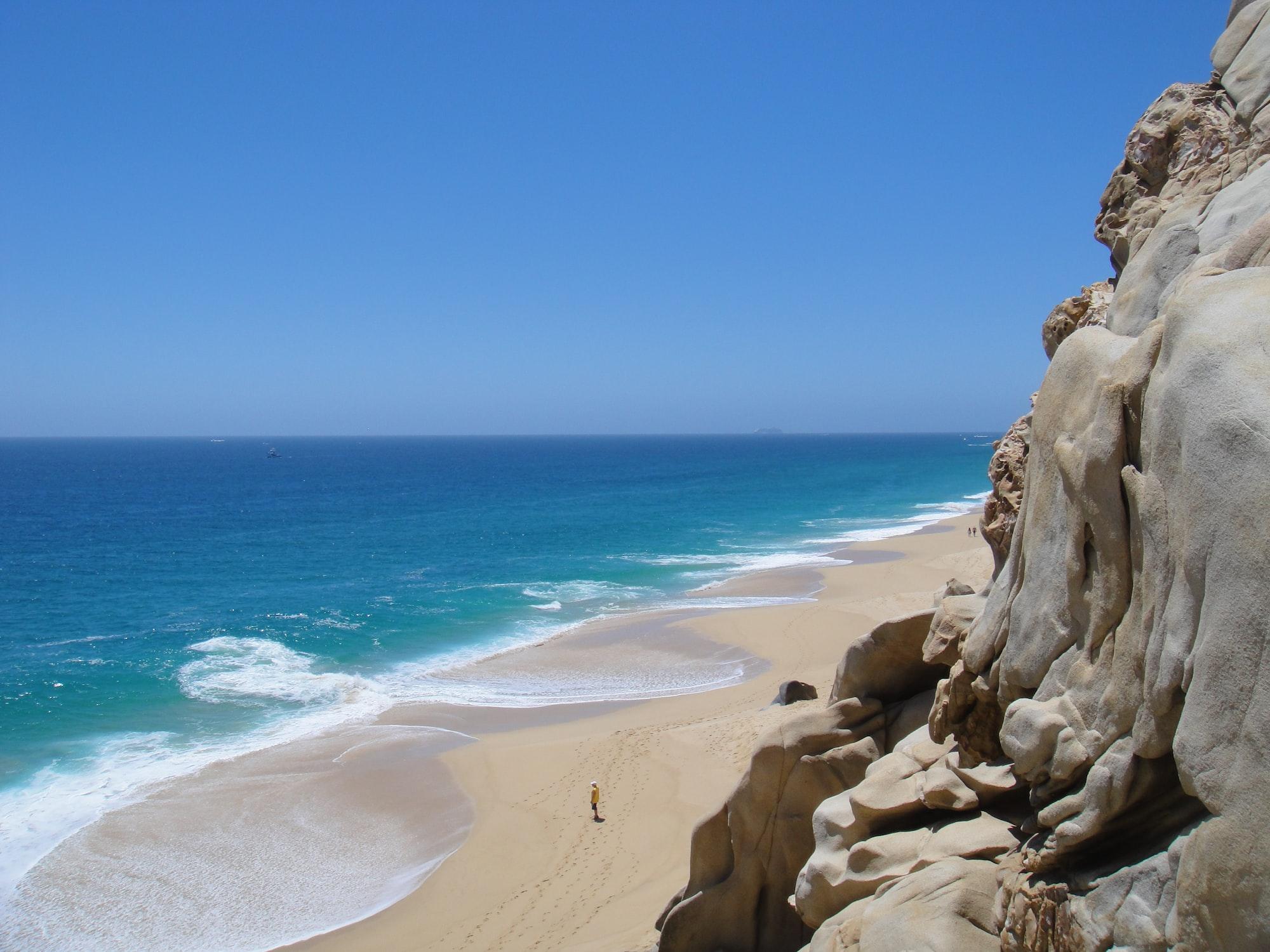 Cliff on a sandy coastline