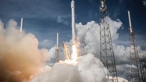 SpaceX launches a Falcon 9 rocket from Cape Canaveral Air Force Station