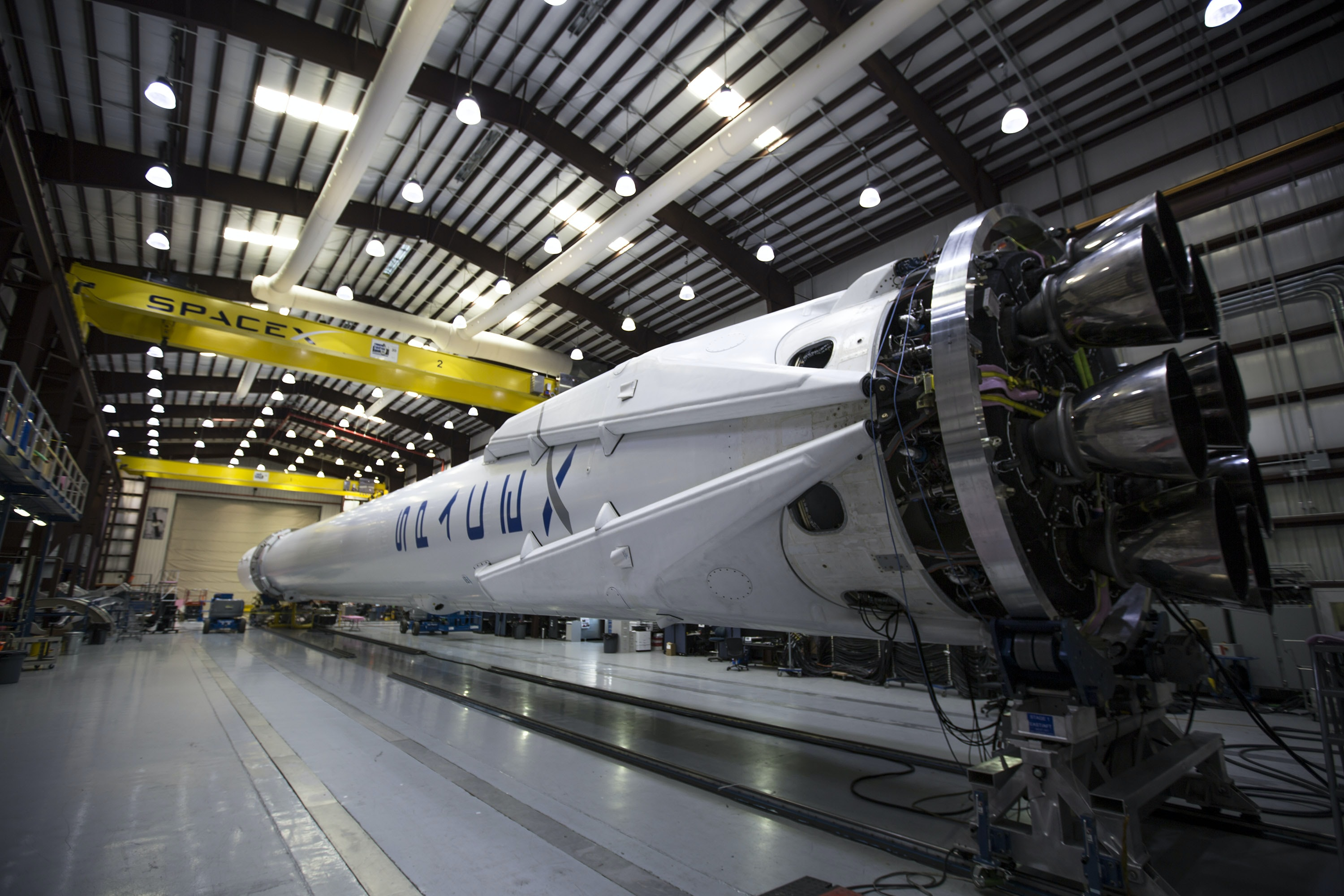 white space shuttle indoors