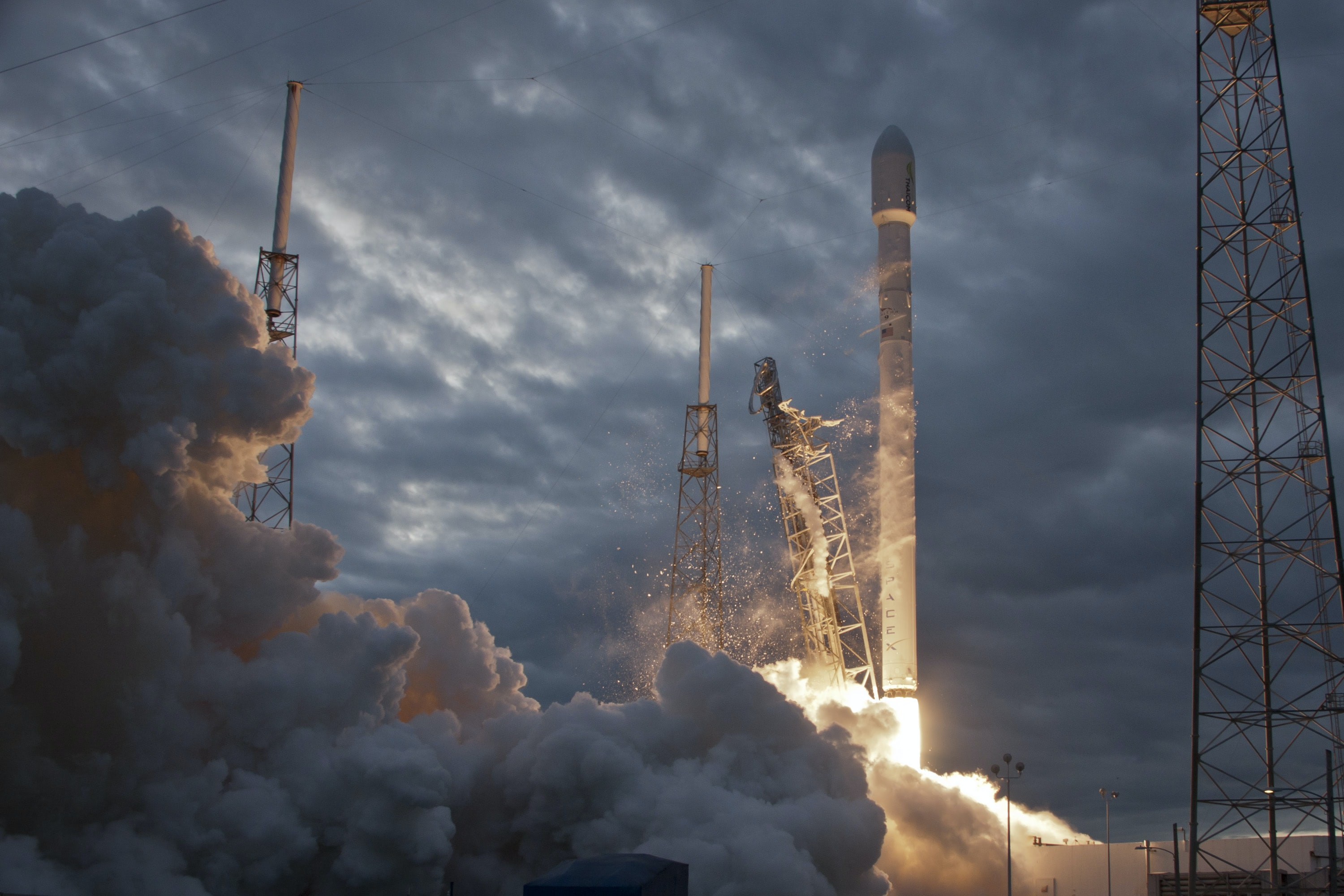 photo of network satellite taking off