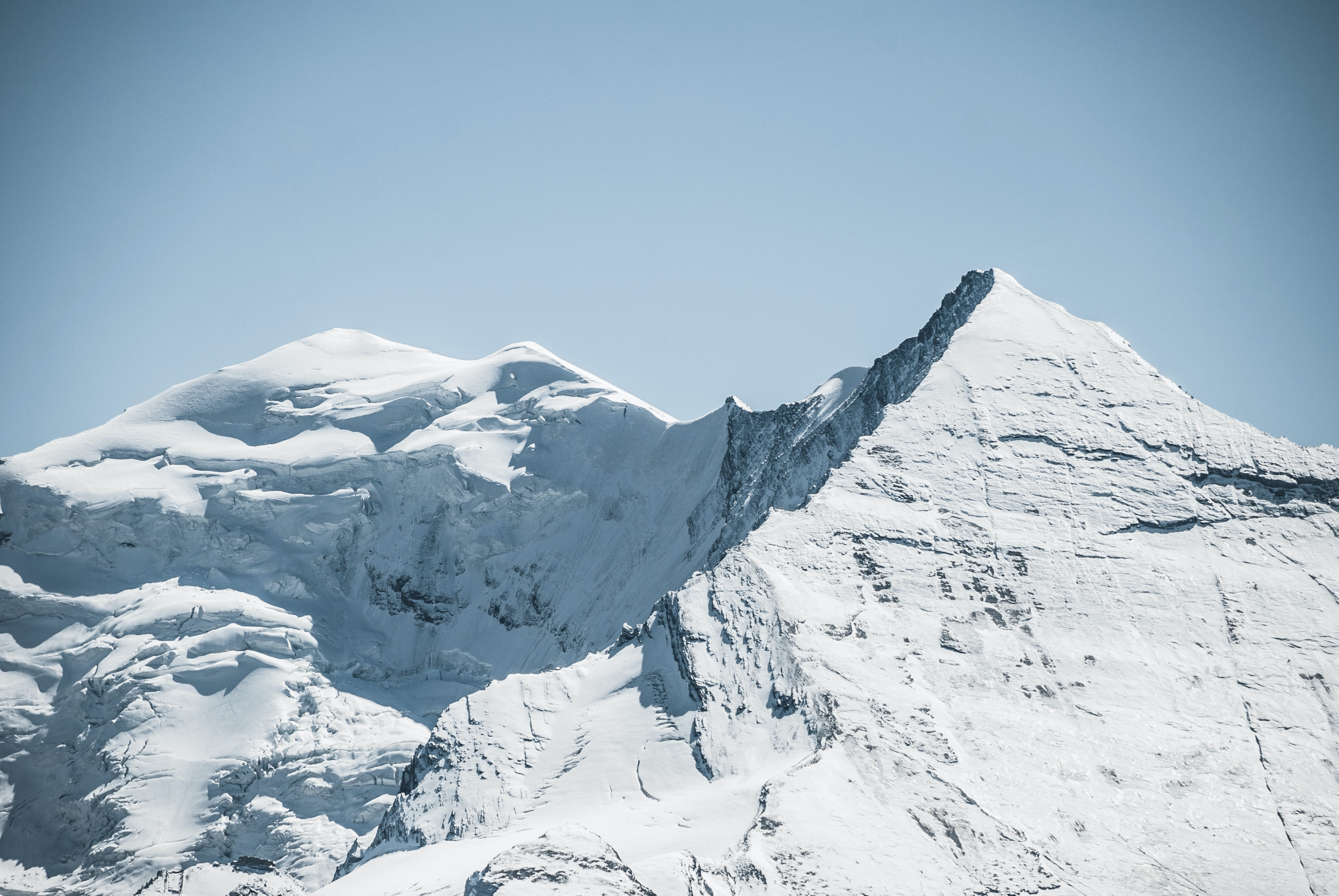 The Altels mountain in Switzerland, coated with snow