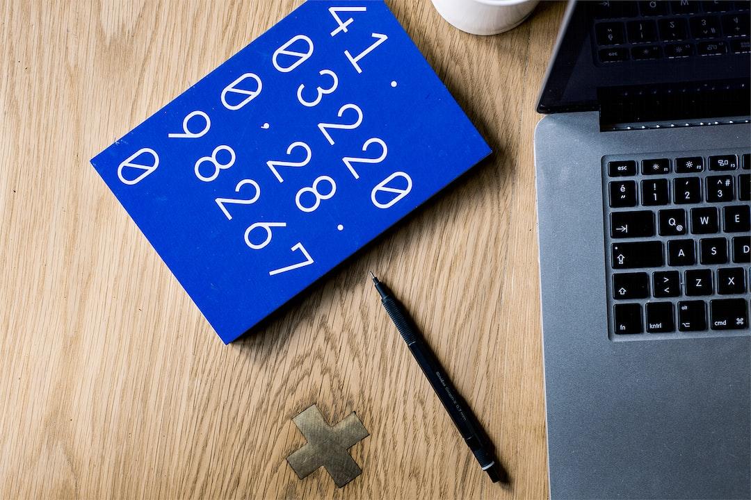 Blue number notebook