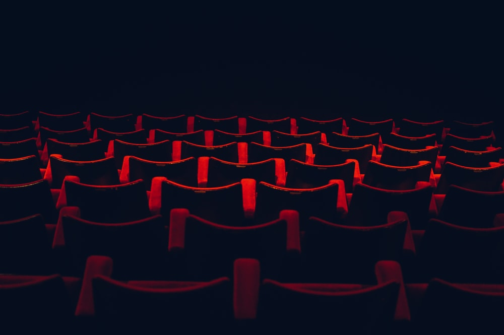 red and black theater seats