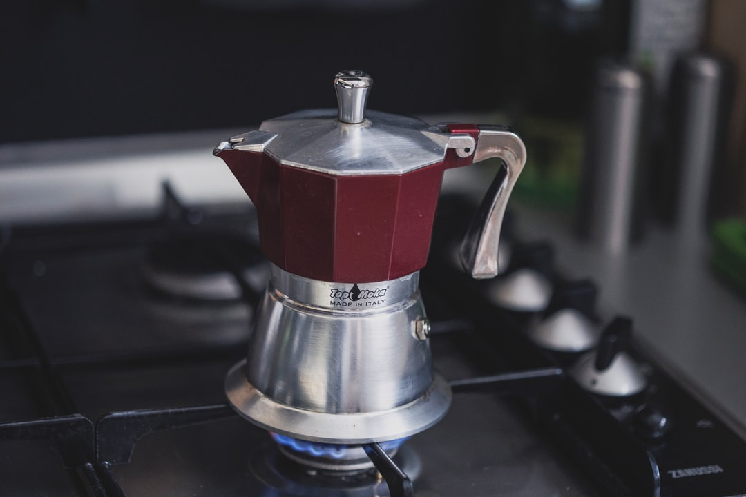 Brewing coffee on a stove