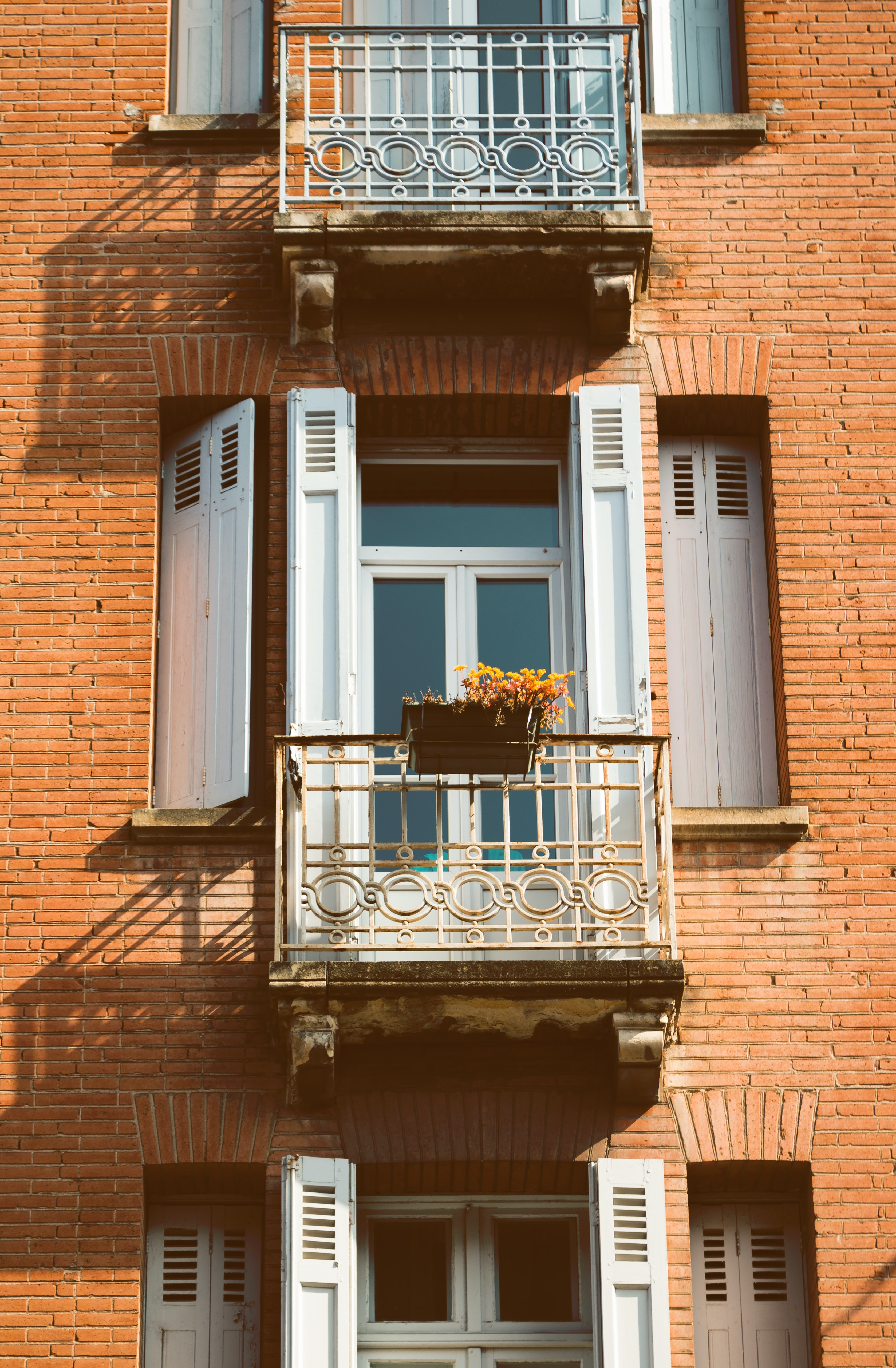 apartment window during daytime
