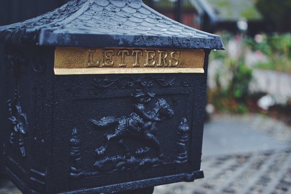 black man riding horse emboss-printed mail box