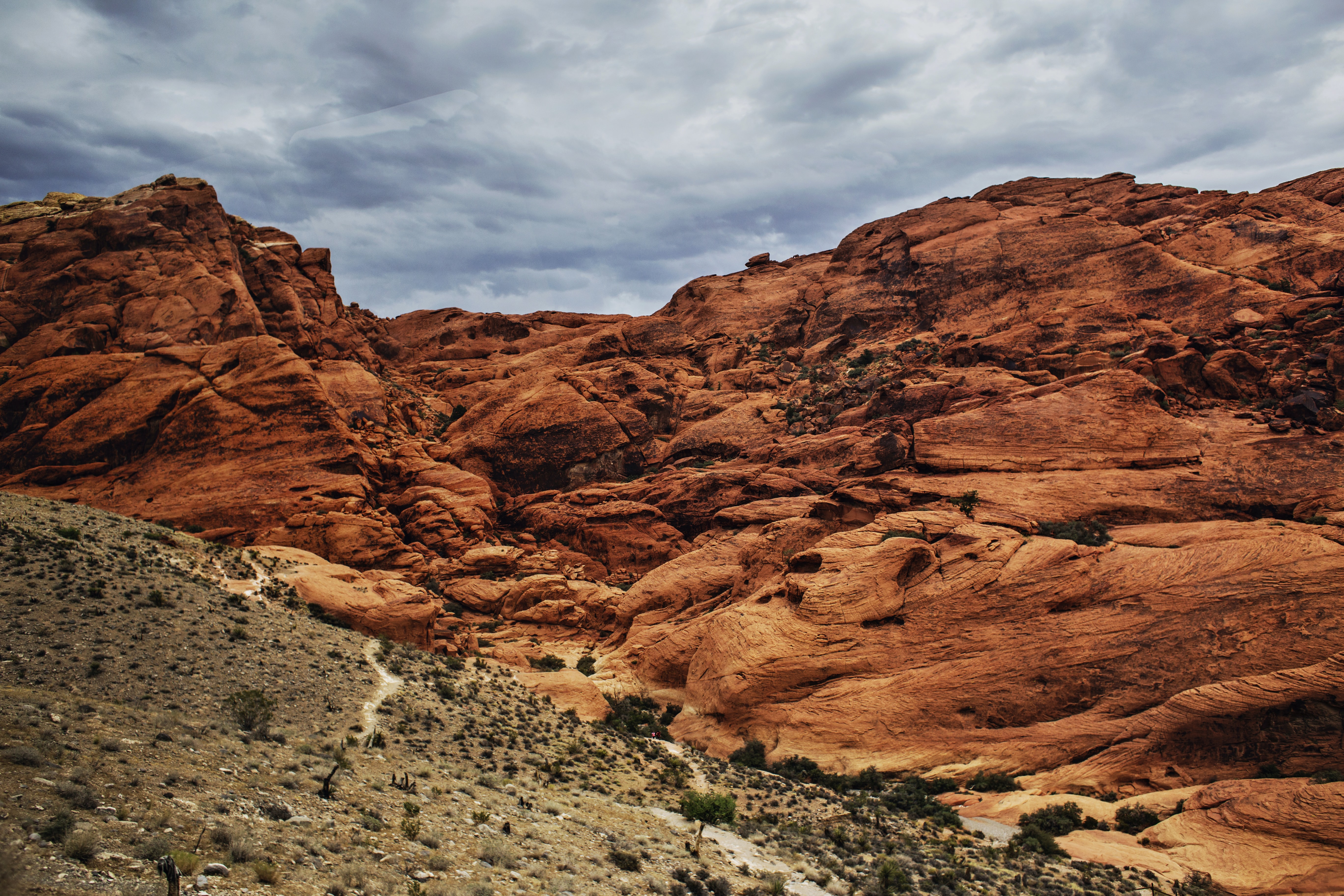 Mountainside view of Red Rock Canyon National Conservation Area