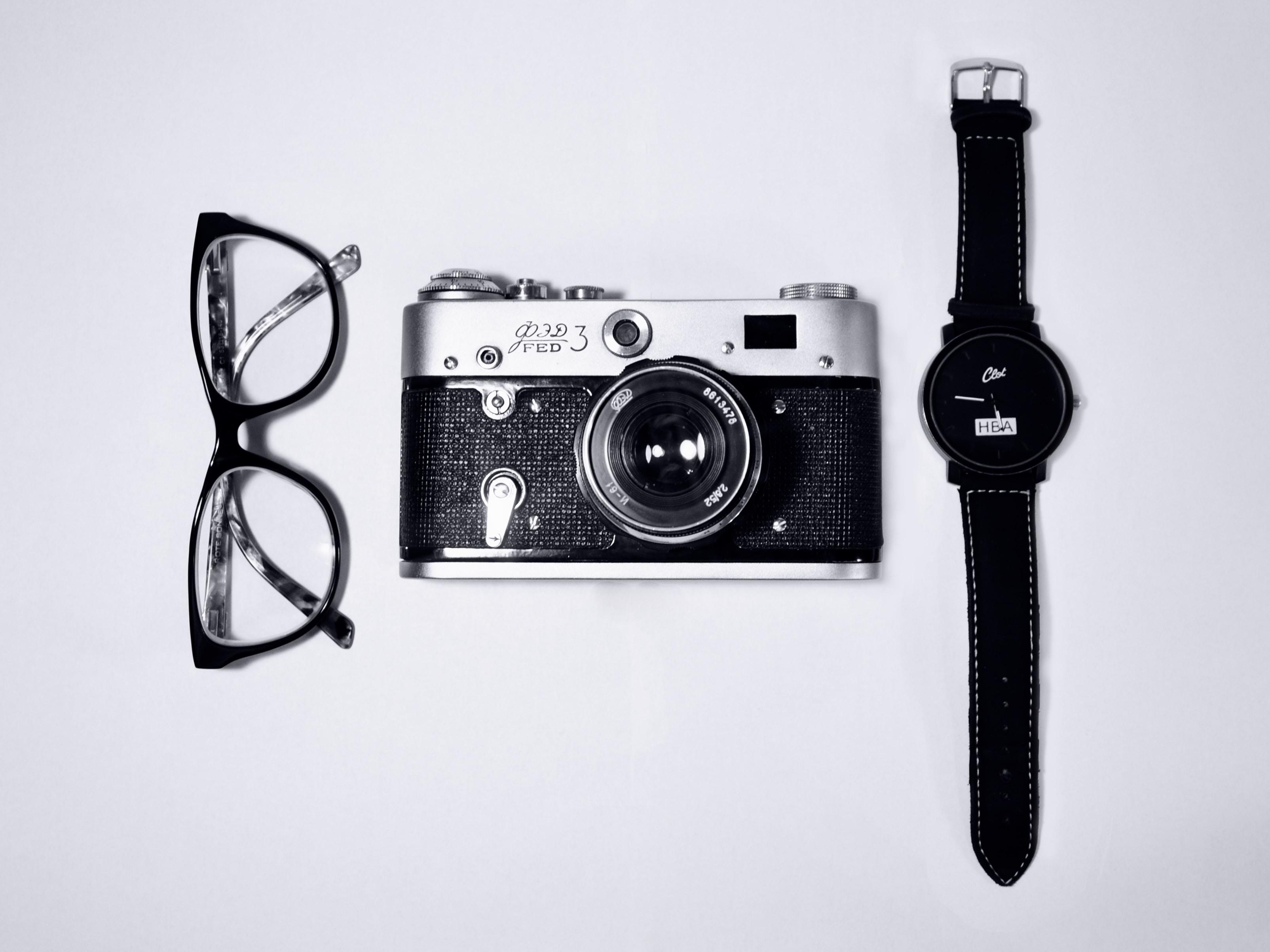 Retro items on white table photo by Dmitry Ratushny ...