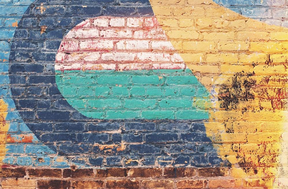 multicolored wall art