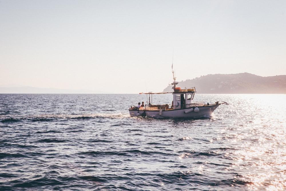 motorboat in body of water