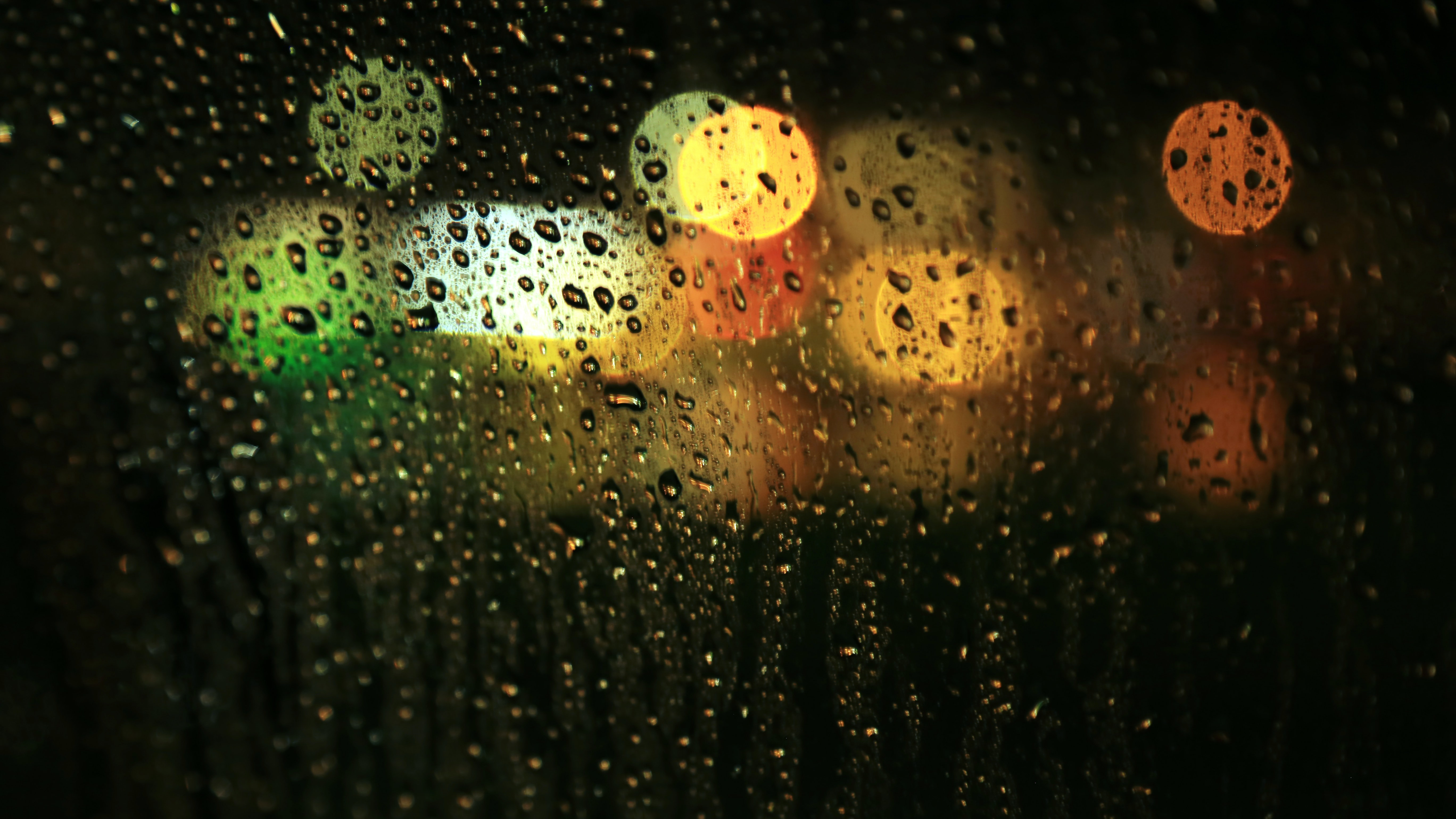 A wet window, from the driver's perspective.