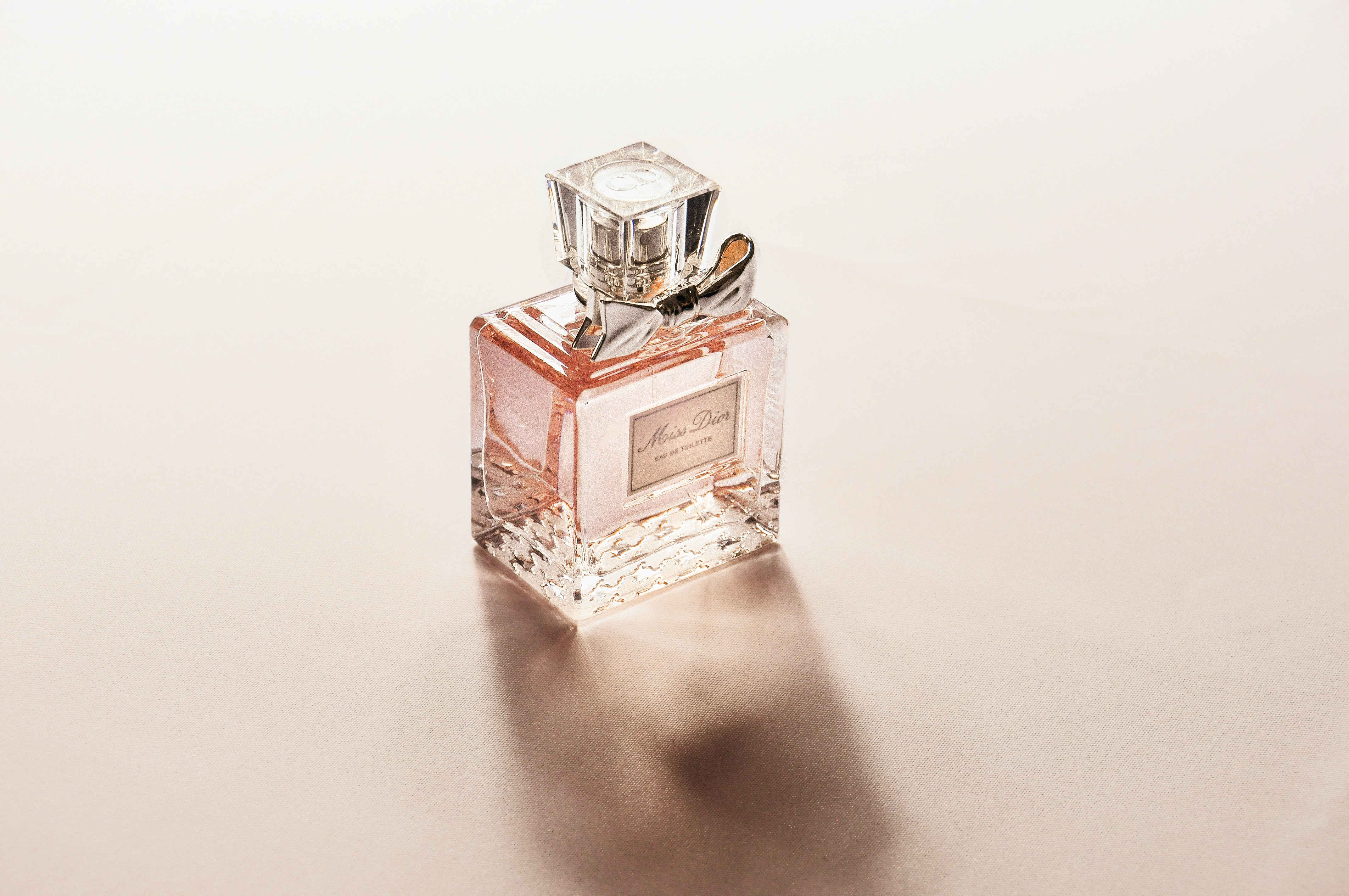 clear perfume bottle