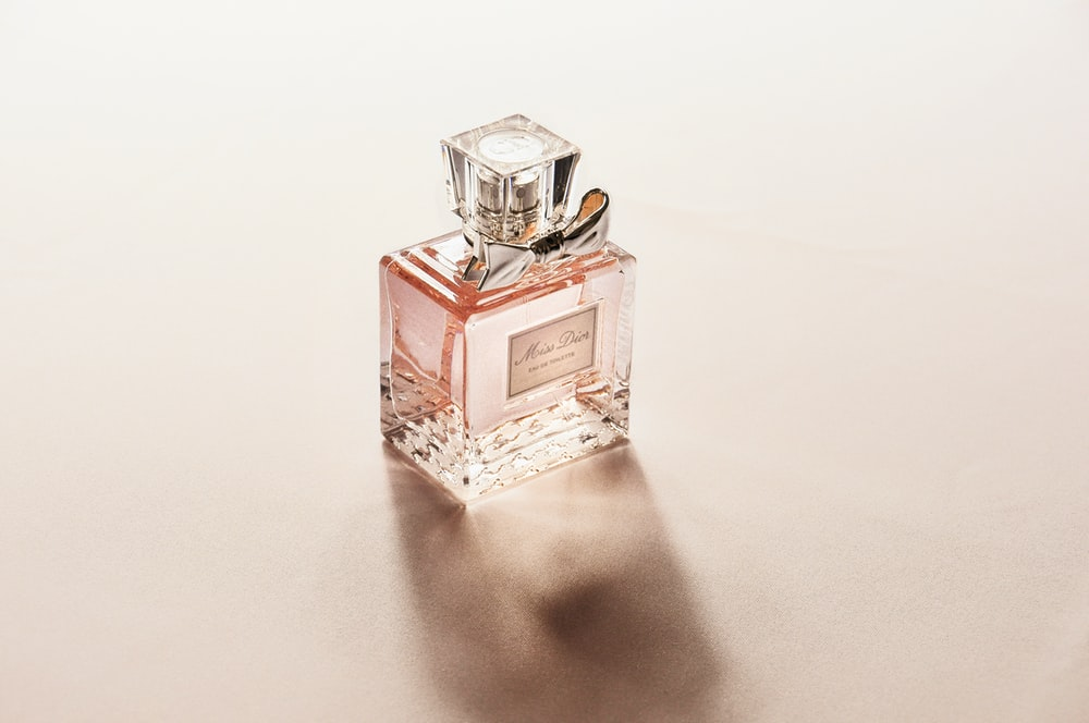 clear perfume bottle