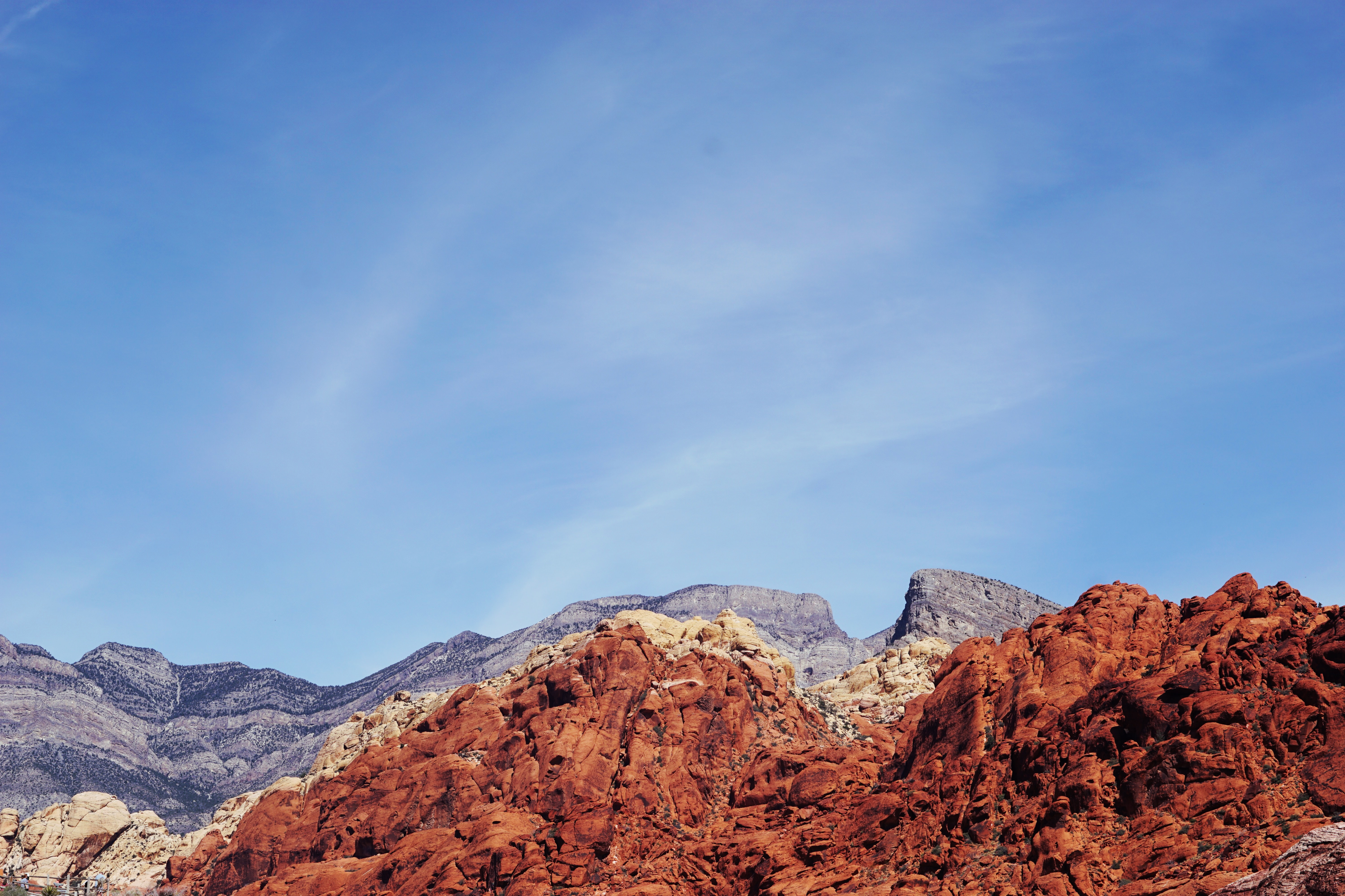 Red desert mountain ridge in Red Rock Canyon National Conservation Area