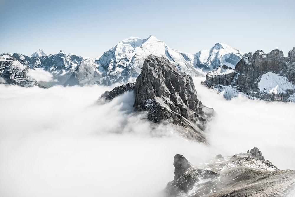 landscape photo of mountain alps