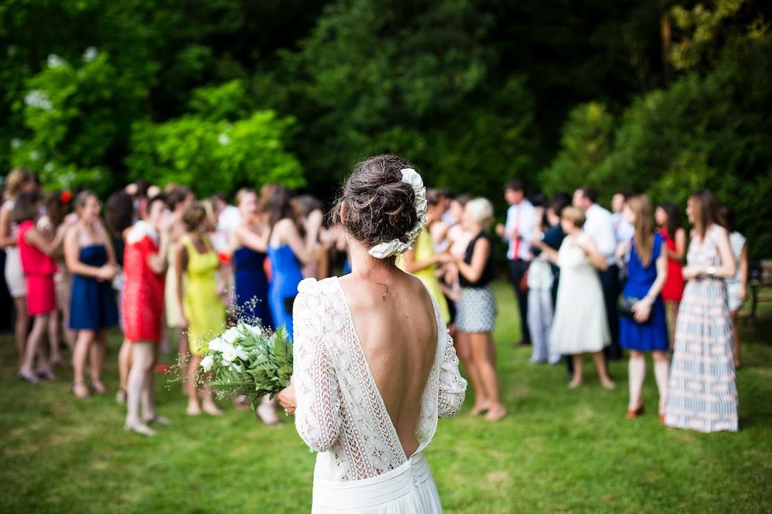 lancer de bouquet de mariage