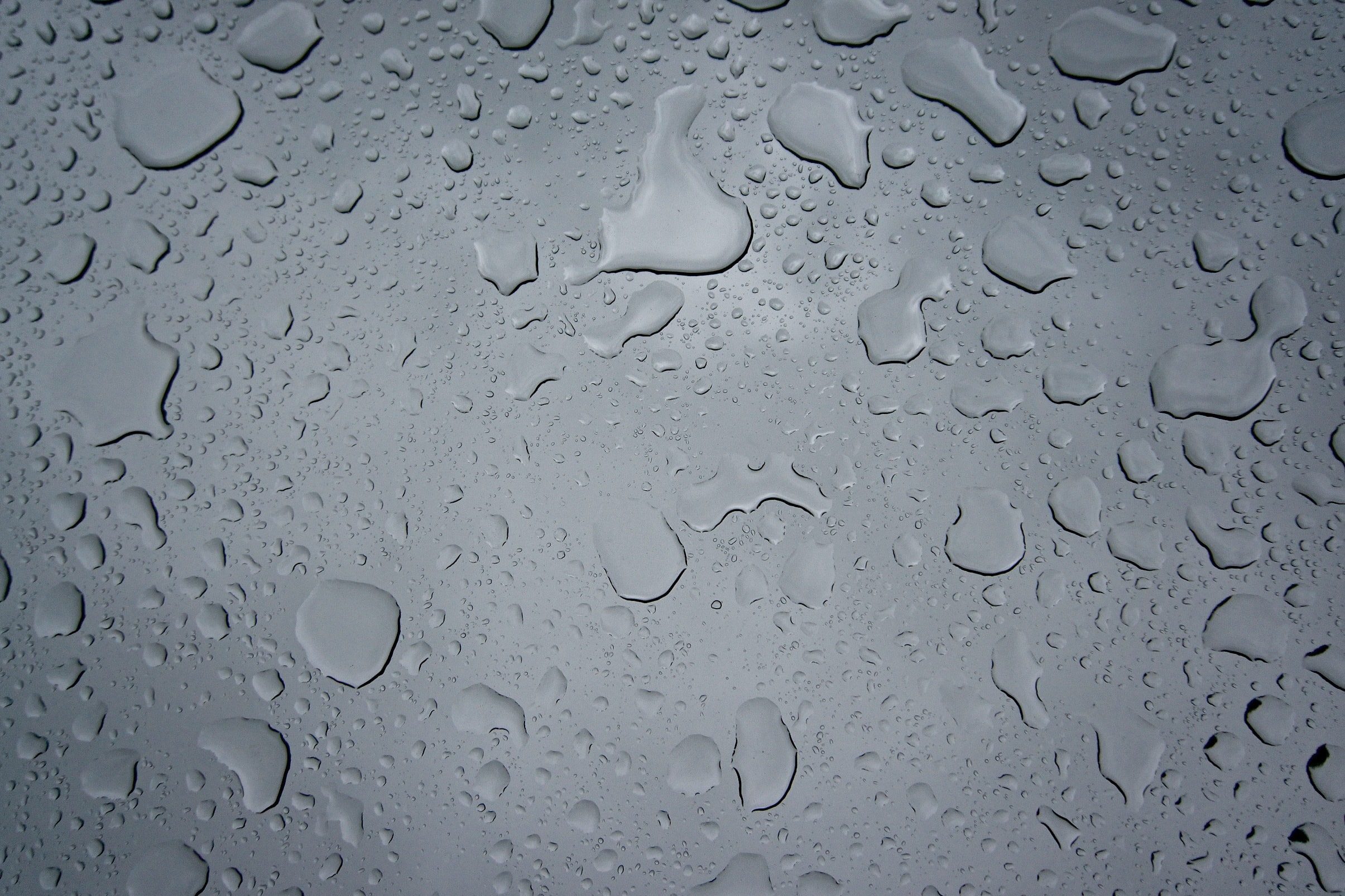 A wet gray surface.