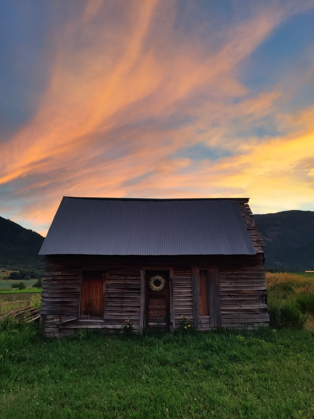 Rural Rustic Cabin And Tree Hd Photo By Bradley Swenson