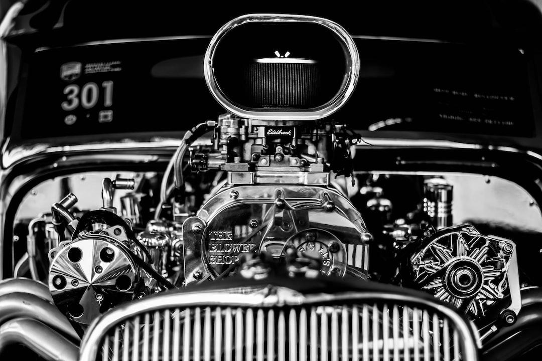 monochrome edelbrock engine