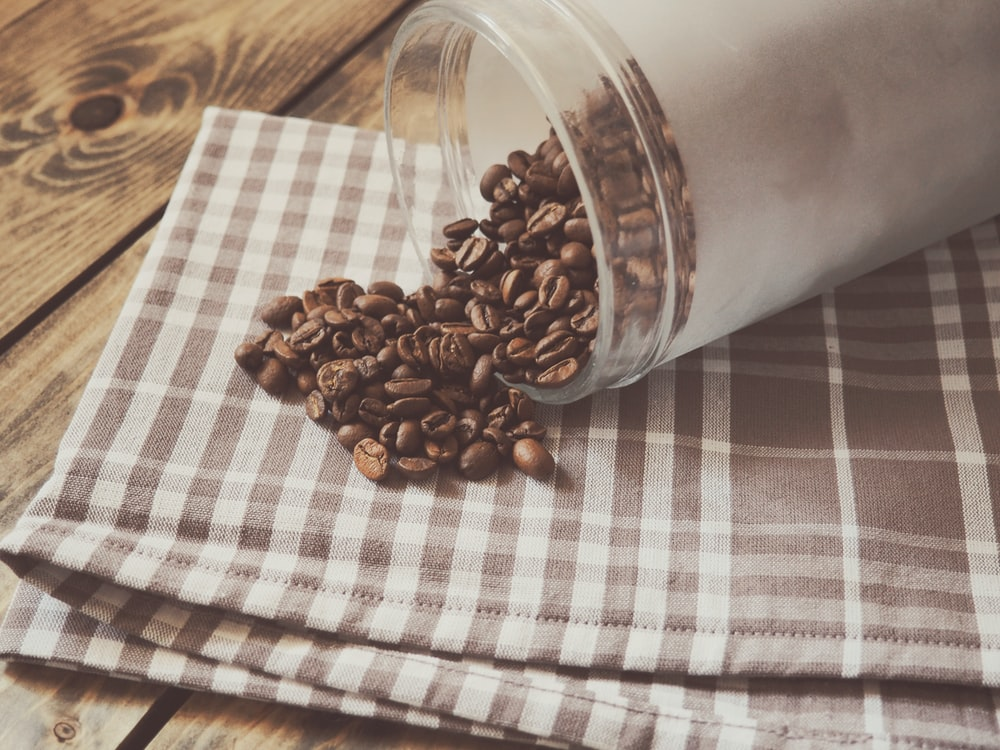 jar of coffee beans