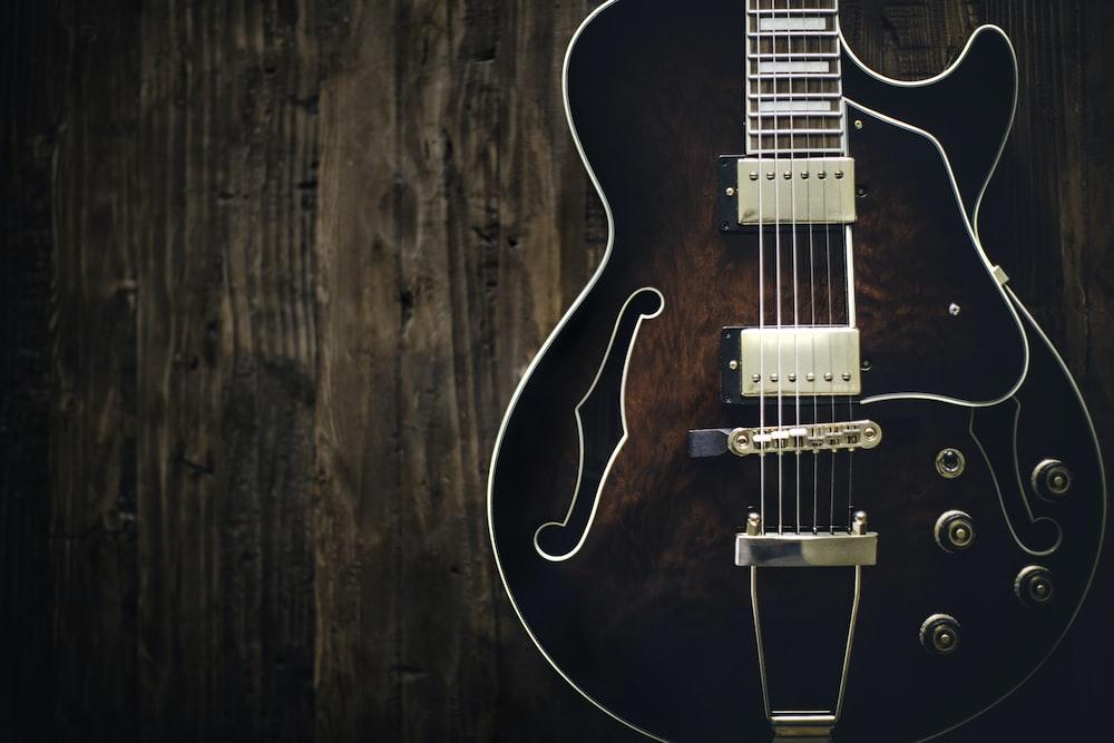 electric jazz guitar photo free music image on unsplash. Black Bedroom Furniture Sets. Home Design Ideas