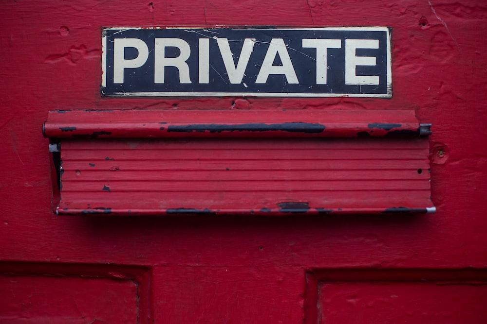 private signage door