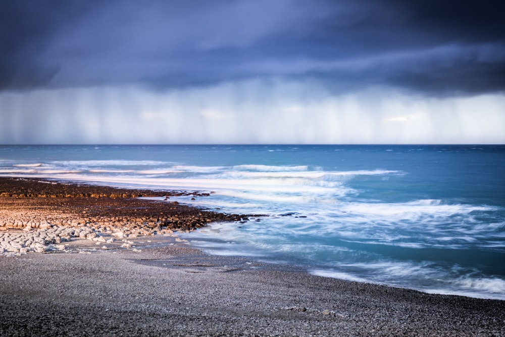 landscape photography of seashore