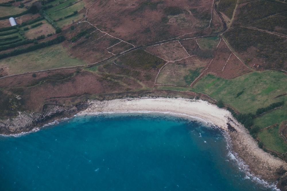 aerial view of farm field